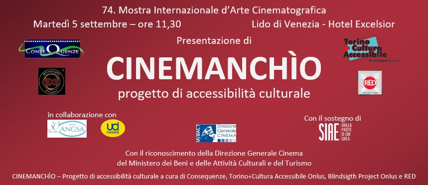 Al Festival del Cinema di Venezia c'è Cinemanchìo