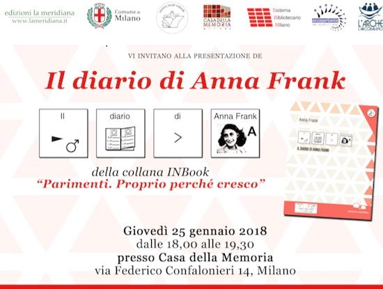 Il diario di Anna Frank in simboli alla casa della memoria