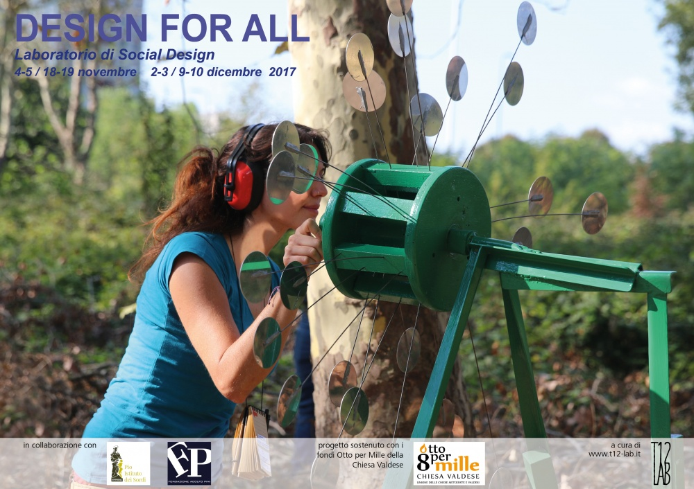 Design for all: riparte il laboratorio dell'associazione T12-lab