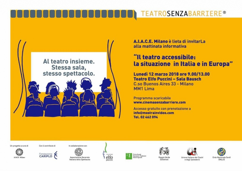 Seminario e Workshop di formazione per il teatro accessibile di TeatroSenzaBarriere®